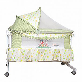 Tinnies Baby Crib For New Born Green (G70)