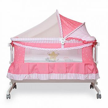 Tinnies Baby Crib For New Born Pink (G70)