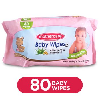 MotherCare Baby Wipes Large 80Pcs