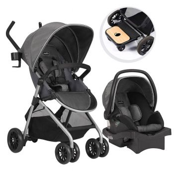 Evenflo Sibby Travel System w/ LiteMax Infant Car Seat, Highline Gray