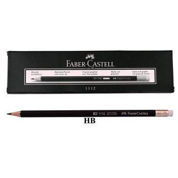 Faber Castell Black Matt HB Pencil Without Rubber 12Pcs (1111)