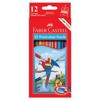 Faber Castell Water Soluble Colour Pencil Short 12Pcs