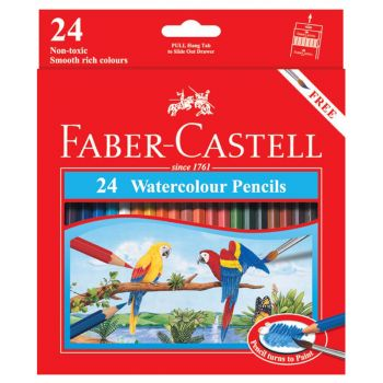 Faber Castell Water Soluble Colour Pencil 24Pcs (114464)