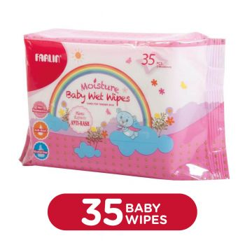 Farlin Baby Wipes 35Pcs Bag (Anti Rash) (DT-005A)