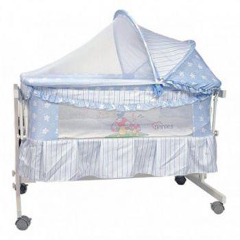 Tinnies Baby Crib For New Born Blue (G70)