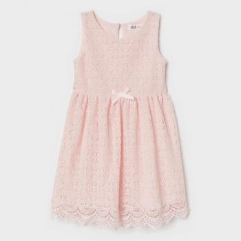 H&M Sleeveless Lace Dress - Pink