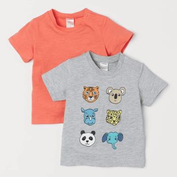 H&M T-Shirts Soft Cotton Jersey 2-Pack