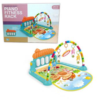 World Dream 3in1 Newborn Baby Play Gym Piano Fitness Rack Mat (PX-10528)