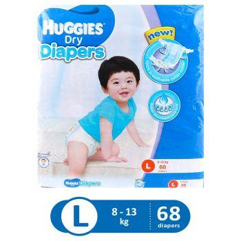 Huggies Dry Diapers Super Jumbo (Large - 68Pcs)