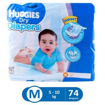 Huggies Dry Diapers Super Jumbo (Medium - 74Pcs)