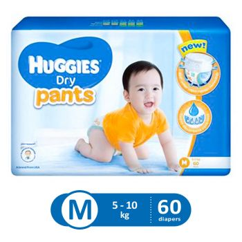 Huggies Dry Pants Super Jumbo (Medium - 60Pcs)