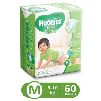 Huggies Ultra Diapers Super Jumbo (Medium - 60Pcs)