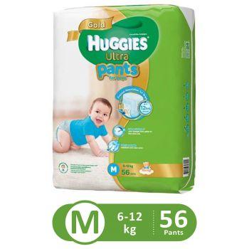 Huggies Ultra Pants Super Jumbo For Boys (Medium - 56Pcs)