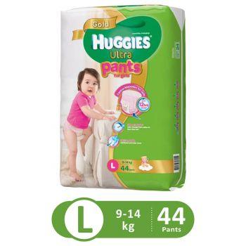 Huggies Ultra Pants Super Jumbo For Girls (Large - 44Pcs)