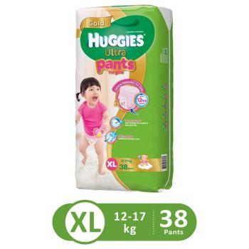 Huggies Ultra Pants Super Jumbo For Girls (XL - 38Pcs)