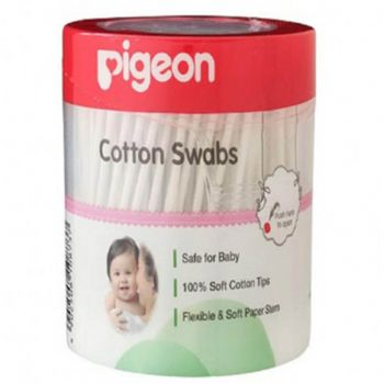 Pigeon Cotton Swab Thick 200Pcs/Jar (K873)