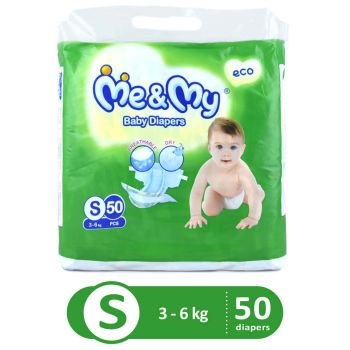 Me & My Diapers Economy Small 50Pcs