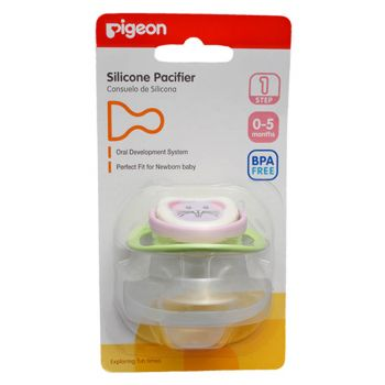 Pigeon Silicone Pacifier Step 1 (Green) (N13691)