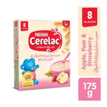 Nestle CERELAC (APPLE, PEAR & STRAWBERRY) 175gms