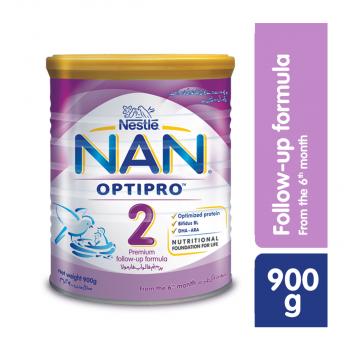 Nestle NANGROW NAN 2 900gms Premium Follow-up Formula Tin Pack