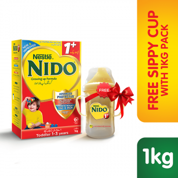 Nestle NIDO 1+ 1000gms Growing Up Formula + Free Sippy Cup