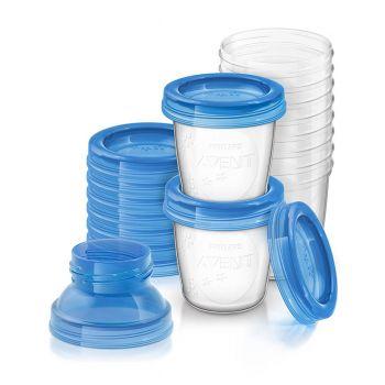 Philips Avent 10x180ML Breast Milk Storage Cups SCF618/10