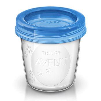 Philips Avent 5x180ML Breast Milk Storage Cups SCF619/05