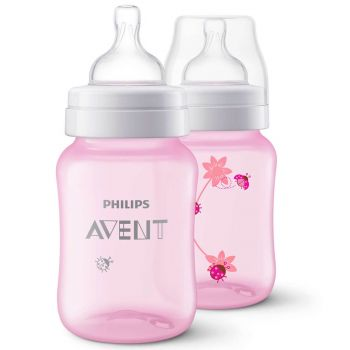 Philips Avent Classic+ PP Deco Bottle 260ML Pack2 (Pink) SCF573/21