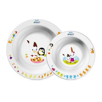 Philips Avent Toddler 2 Bowl Set 6m+ Neutral SCF708/00