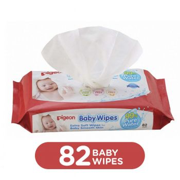 Pigeon Baby Wipes Cham & Rose 82Sheets Refill Box (P387)