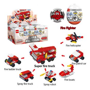 Planet X 6in1 Super Fire Fighter Engine Truck Building Blocks (PX-10409)