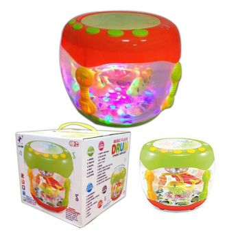 Planet X Big Musical Flash Drum With Lights And Nursery Rhymes (PX-10483)