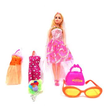 Planet X Charm Girl Fashion Doll Set With Accessories (PX-10524)