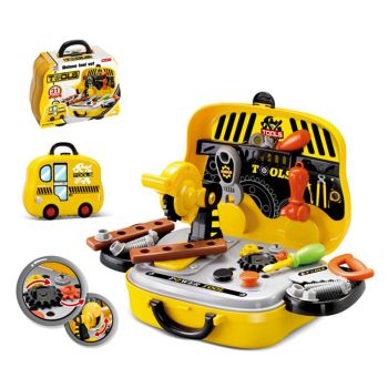Planet X Construction Tools Pretend Play Set Briefcase Yellow (PX-10298)