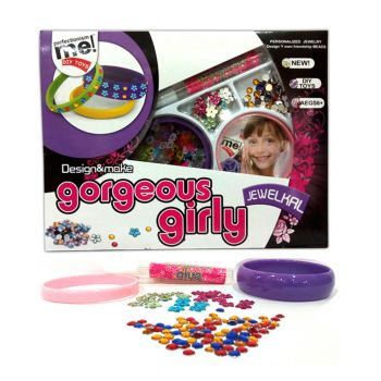 Planet X Gorgeous Girl Personalized Glitter Bangles Making Set (PX-10535)