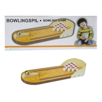 Planet X Miniature Finger Wooden Bowling Pins And Ball Toy Set (PX-10276)