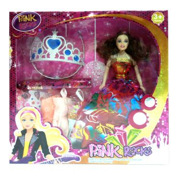 Planet X Pink Rocks Doll Pretend Play Set (PX-10013)