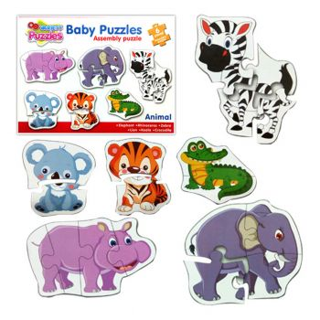 Planet X Pre-School Baby Toddler Puzzles Zoo Animals 3 To 8 inches (PX-10349)