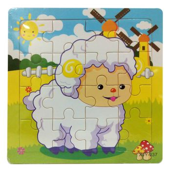 Planet X Sheep Wooden Jigsaw Puzzle 6inch (PX-10444)