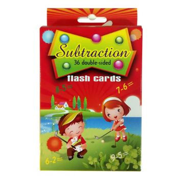 Planet X Substraction Learning Flash Cards For Kids (PX-9887)