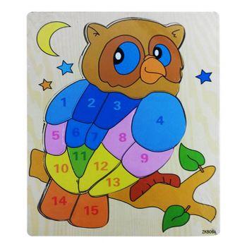 Planet X Wood 123 Puzzle Owl (PX-9242)