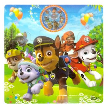 Planet X Wooden Jigsaw Puzzle Paw Petrol Dogs 5.75inch (PX-10258)