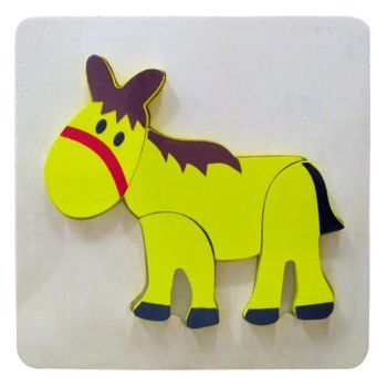 Planet X Wooden Puzzle Thick Donkey (PX-10308)