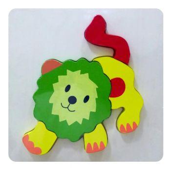 Planet X Wooden Puzzle Thick Lion (PX-10309)