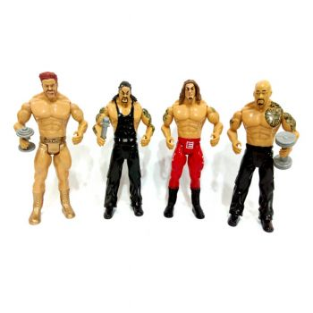 Planet X Wwe Flex Force Wrestling Ring With Action Figures 6inches (PX-10346)
