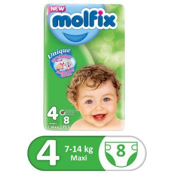 Molfix 3D 8Pcs Small Pack Maxi Size 4