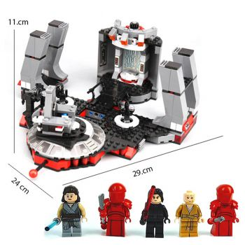 Lepin Star Wars The Last Jedi Snokes Throne Room Building Blocks 05148 (PX-10502)