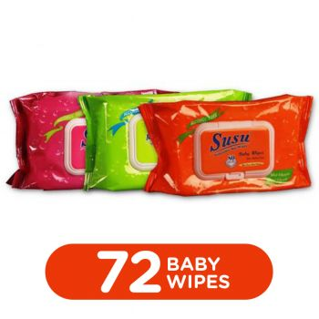 Me & My Baby Wipes 72Pcs