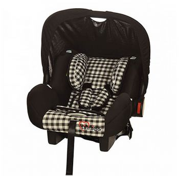 Tinnies Baby Carry Cot Black Check (T001)