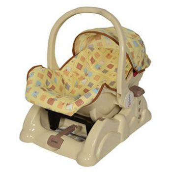 Tinnies Baby Carry Cot With Rocking Beige (T003)